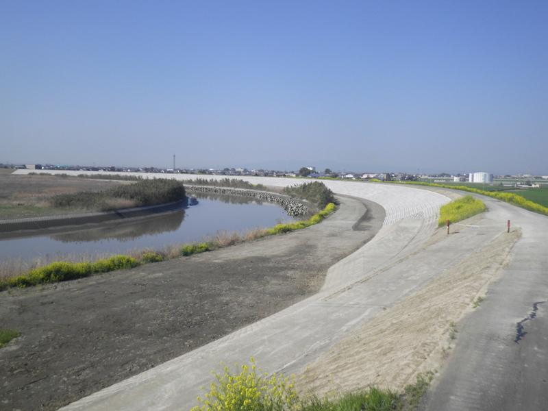 矢部川六合地区(上流)築堤工事